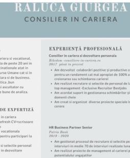 Raluca Giurgea - CV profesional perfect